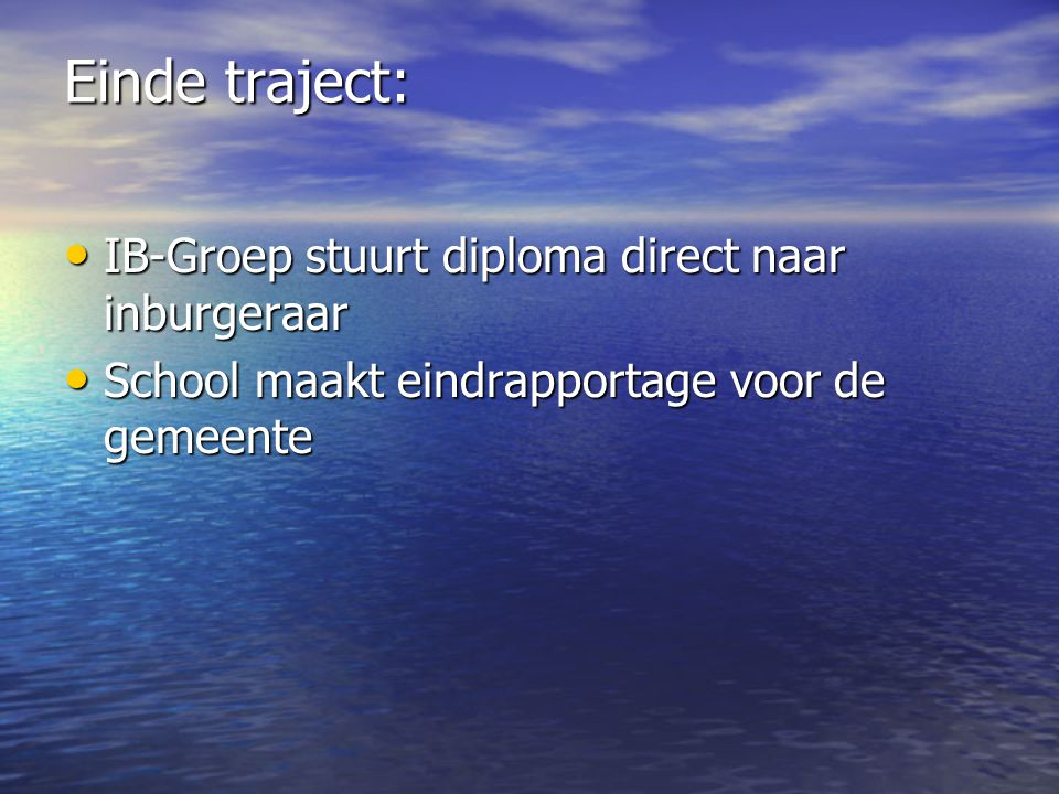 Einde traject: IB-Groep stuurt diploma direct naar inburgeraar