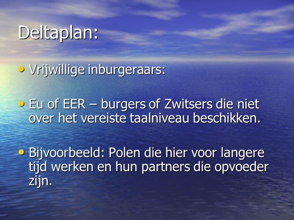 Deltaplan: Vrijwillige inburgeraars: