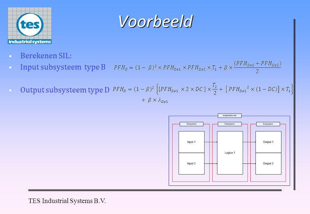 Voorbeeld Berekenen SIL: Input subsysteem type B