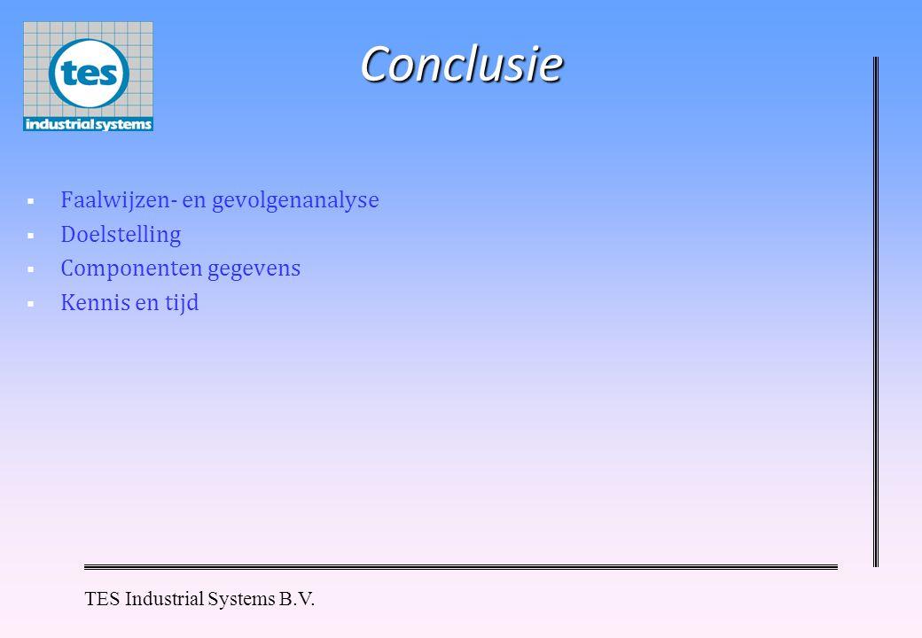 Conclusie Faalwijzen- en gevolgenanalyse Doelstelling