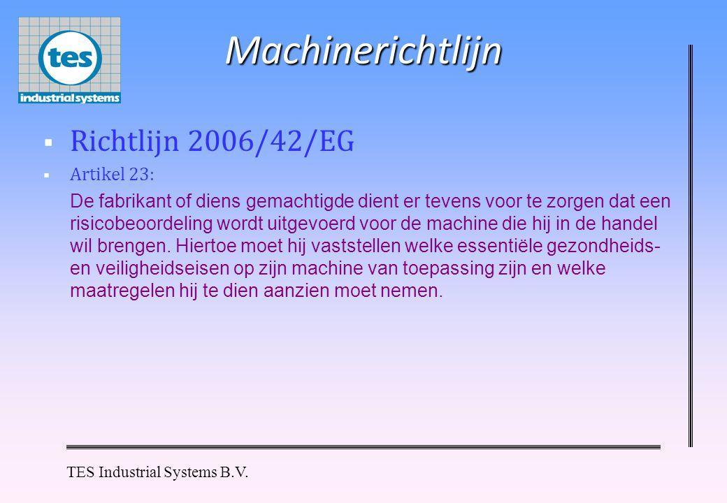 Machinerichtlijn Richtlijn 2006/42/EG Artikel 23: