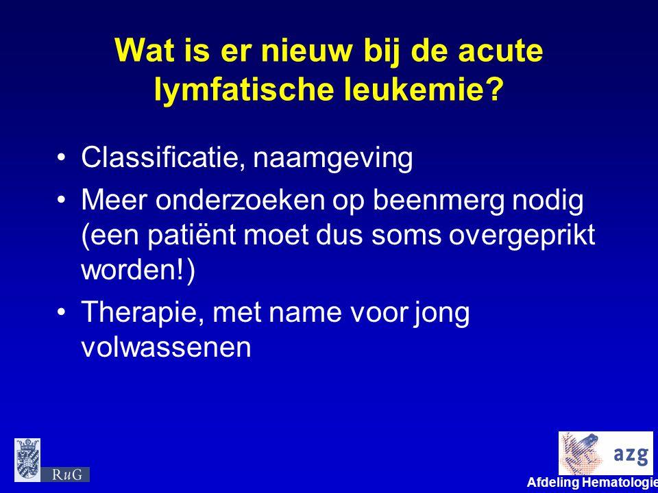 Wat is er nieuw bij de acute lymfatische leukemie