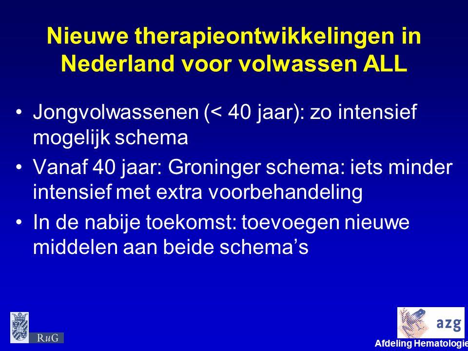 Nieuwe therapieontwikkelingen in Nederland voor volwassen ALL