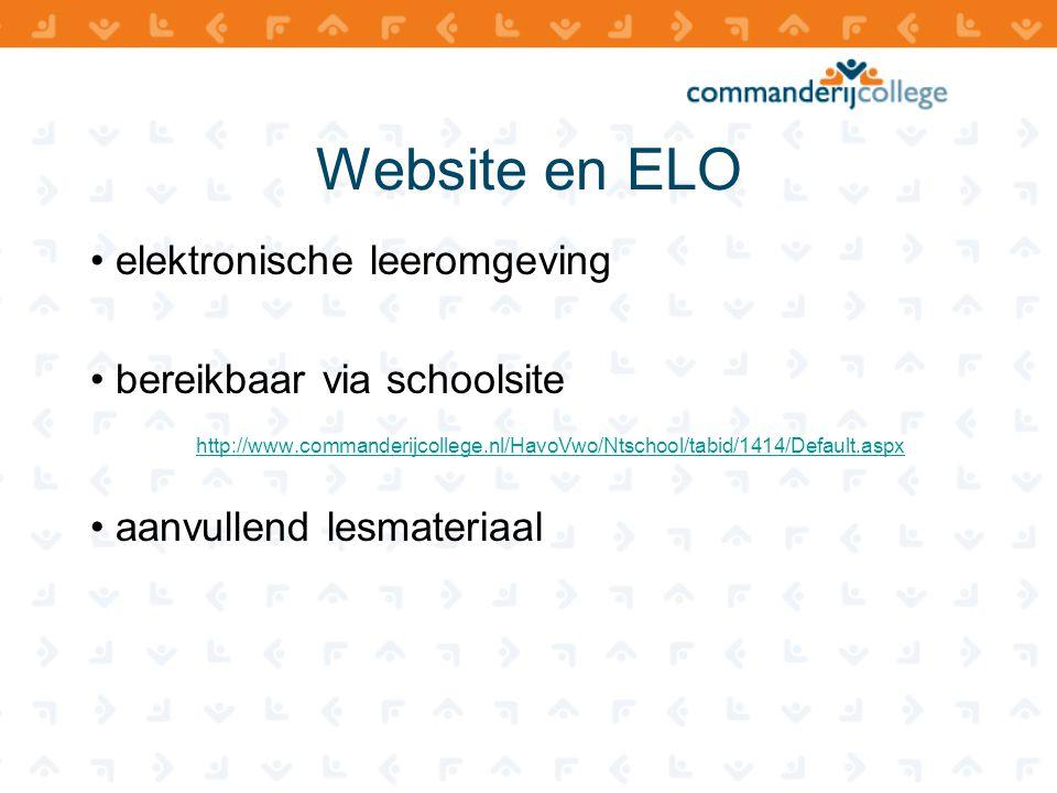 Website en ELO elektronische leeromgeving bereikbaar via schoolsite