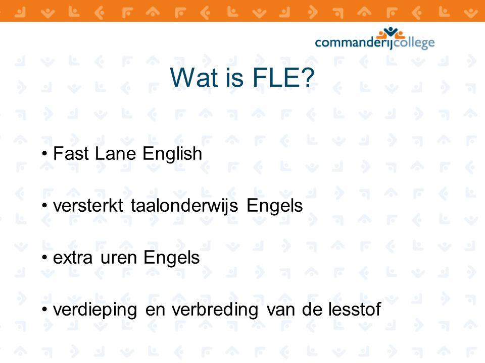 Wat is FLE Fast Lane English versterkt taalonderwijs Engels