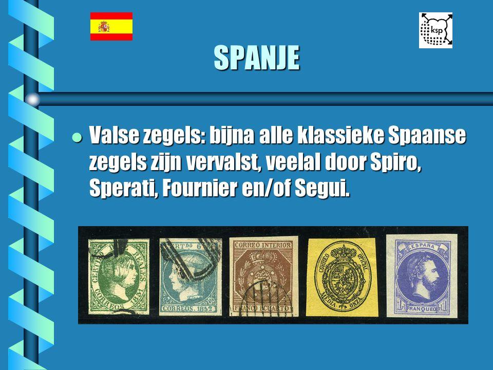 SPANJE Valse zegels: bijna alle klassieke Spaanse zegels zijn vervalst, veelal door Spiro, Sperati, Fournier en/of Segui.