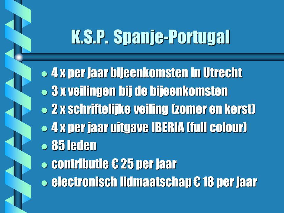 K.S.P. Spanje-Portugal 4 x per jaar bijeenkomsten in Utrecht