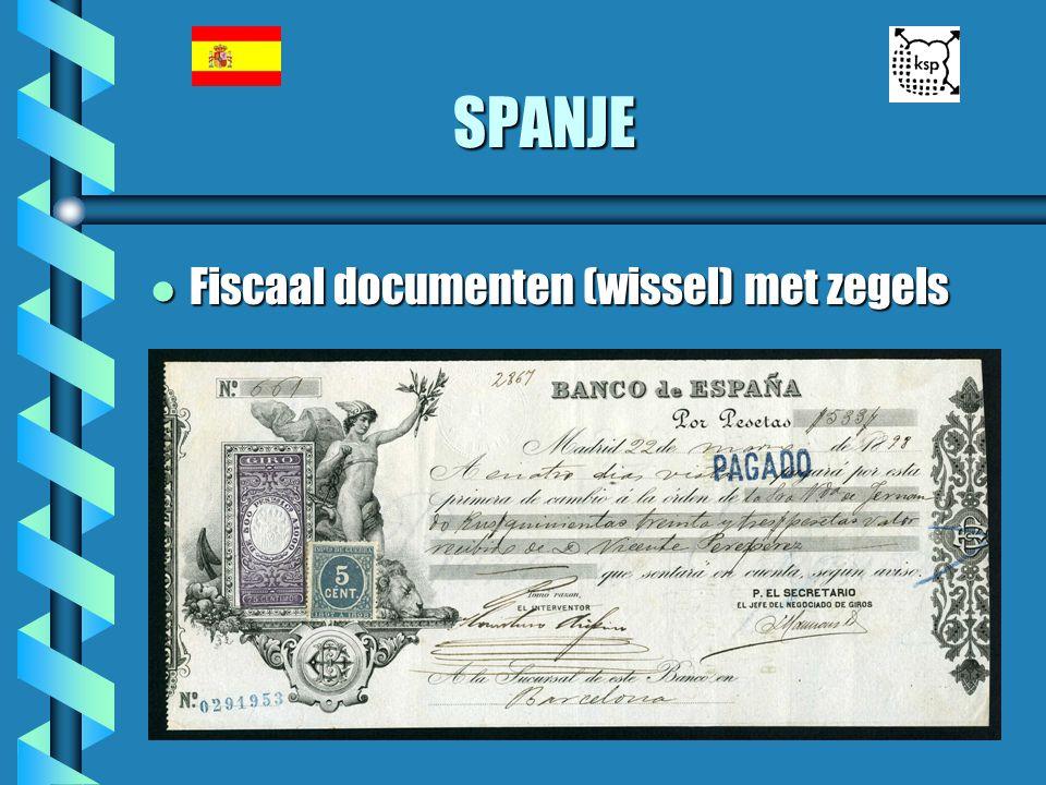 SPANJE Fiscaal documenten (wissel) met zegels