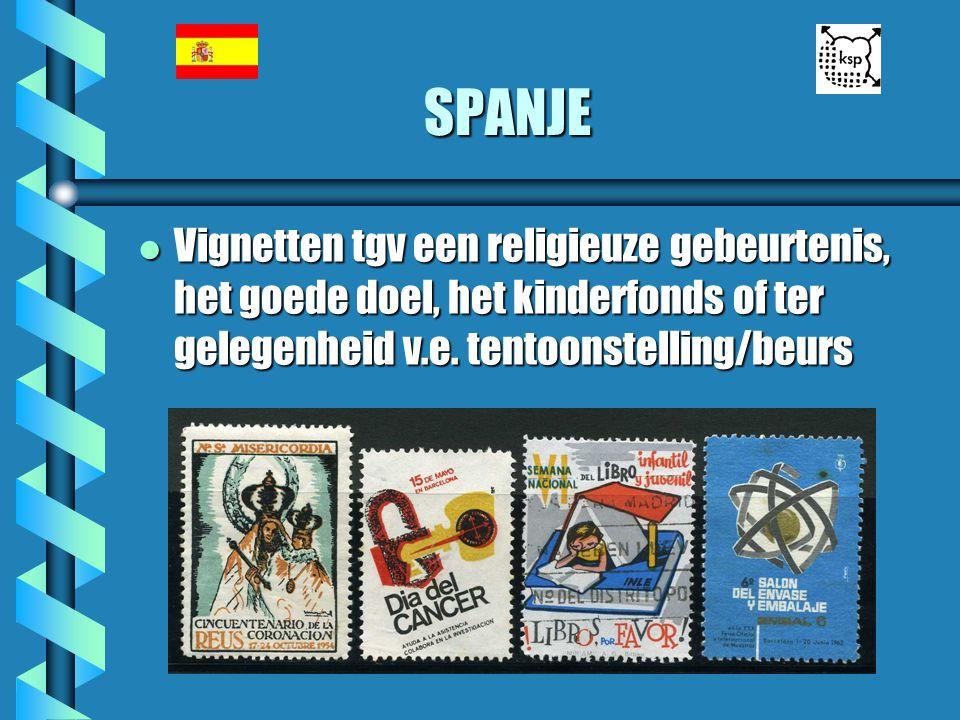 SPANJE Vignetten tgv een religieuze gebeurtenis, het goede doel, het kinderfonds of ter gelegenheid v.e.