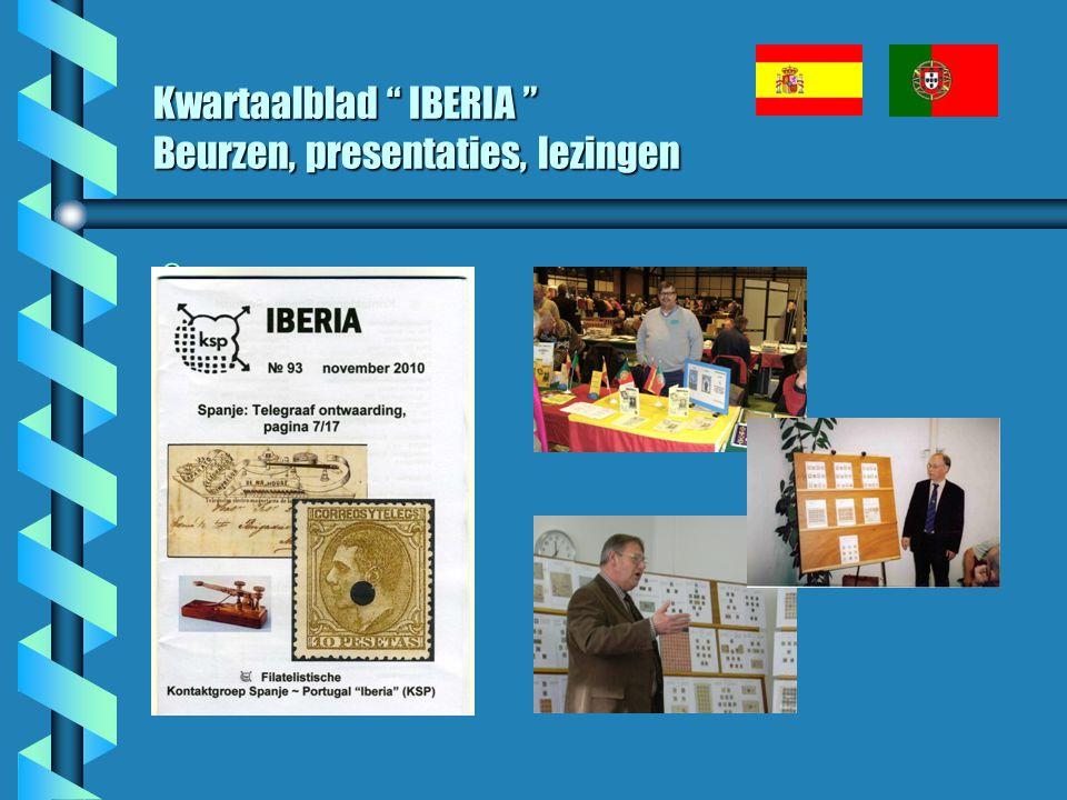 Kwartaalblad IBERIA Beurzen, presentaties, lezingen