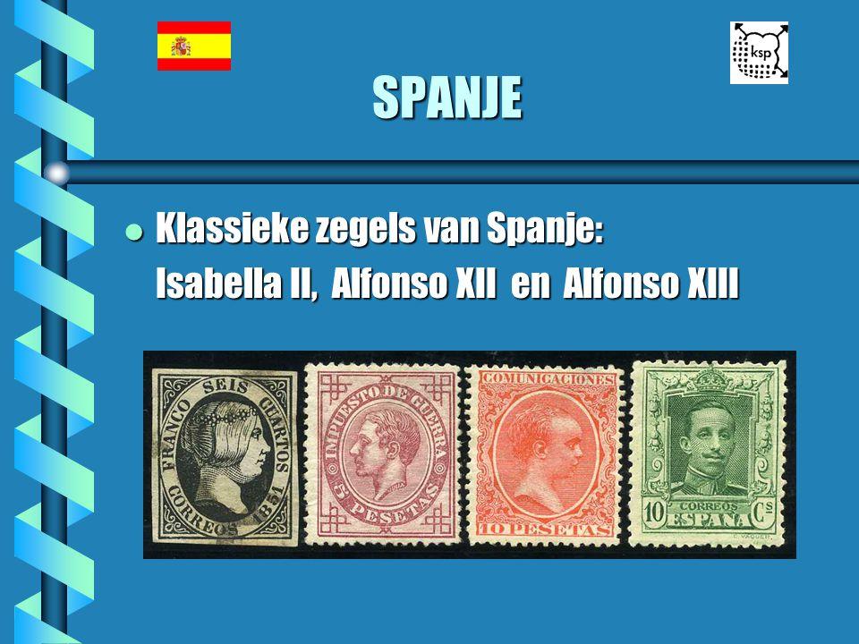SPANJE Klassieke zegels van Spanje: