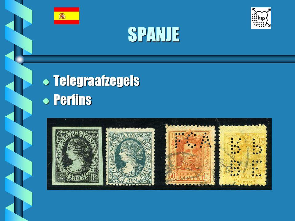 SPANJE Telegraafzegels Perfins