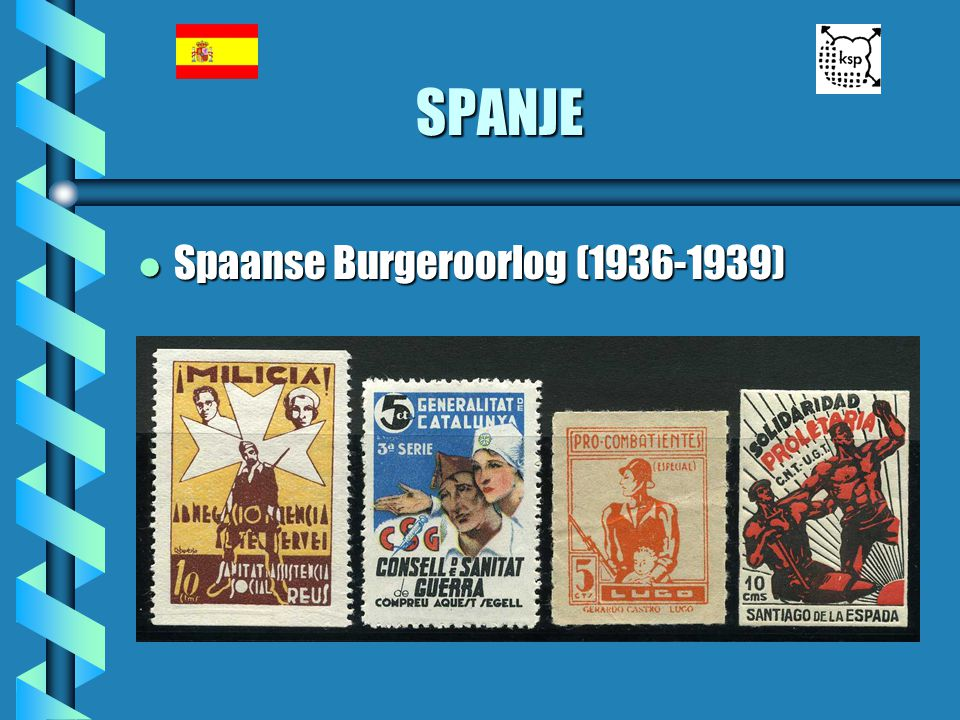 SPANJE Spaanse Burgeroorlog (1936-1939)