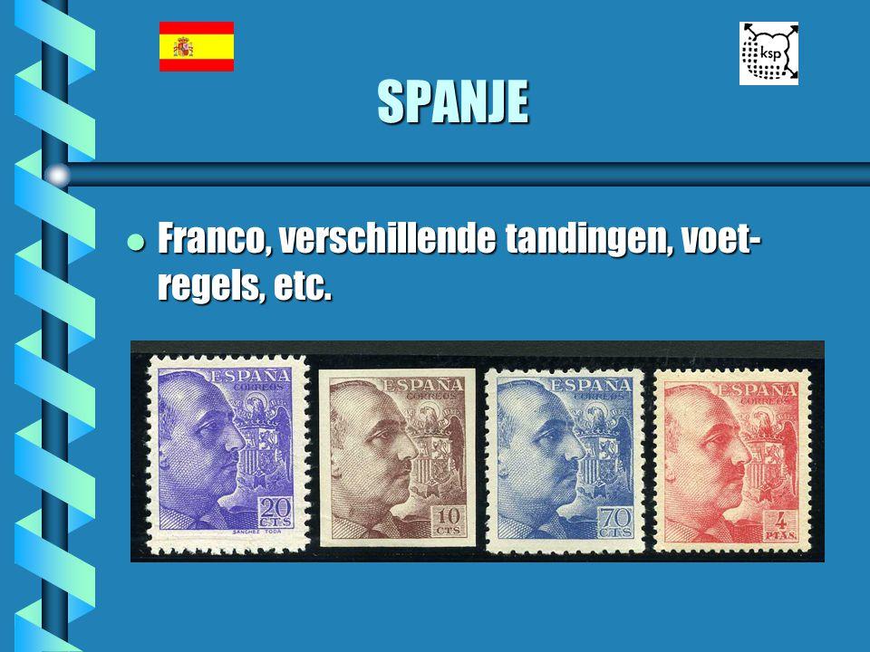 SPANJE Franco, verschillende tandingen, voet-regels, etc.