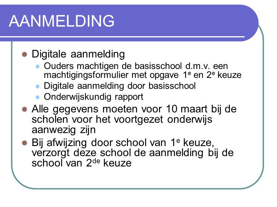 AANMELDING Digitale aanmelding