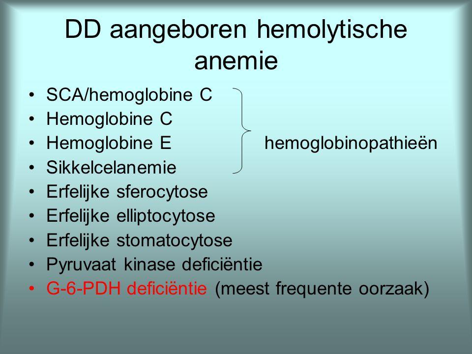 DD aangeboren hemolytische anemie