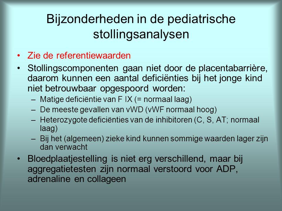 Bijzonderheden in de pediatrische stollingsanalysen