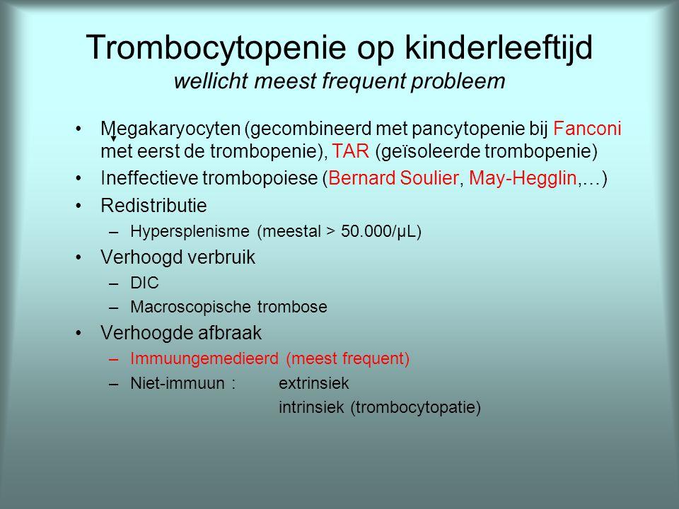Trombocytopenie op kinderleeftijd wellicht meest frequent probleem