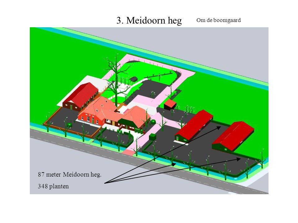 3. Meidoorn heg Om de boomgaard 87 meter Meidoorn heg. 348 planten