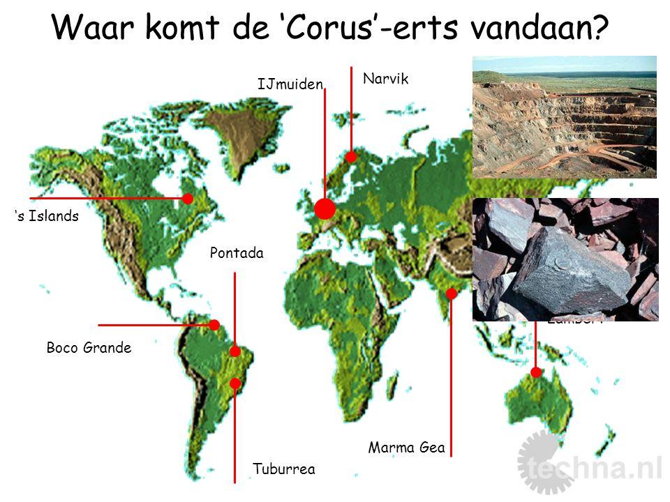 Waar komt de 'Corus'-erts vandaan