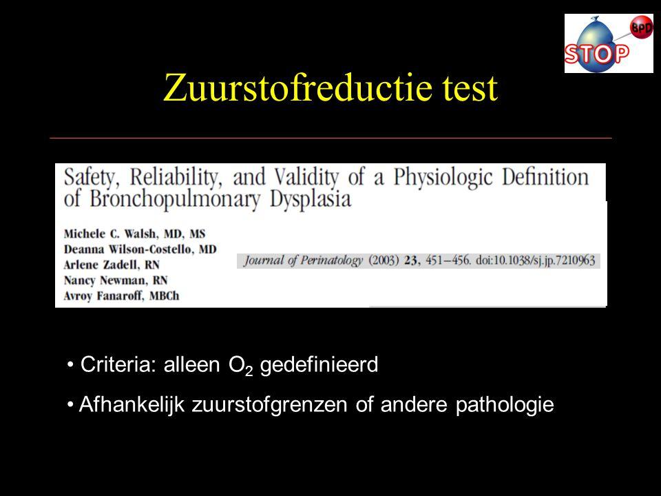 Zuurstofreductie test