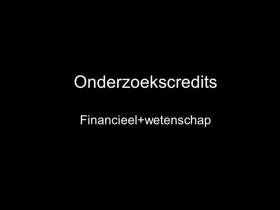 Financieel+wetenschap