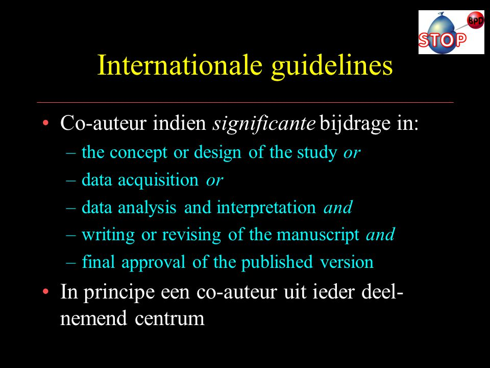 Internationale guidelines