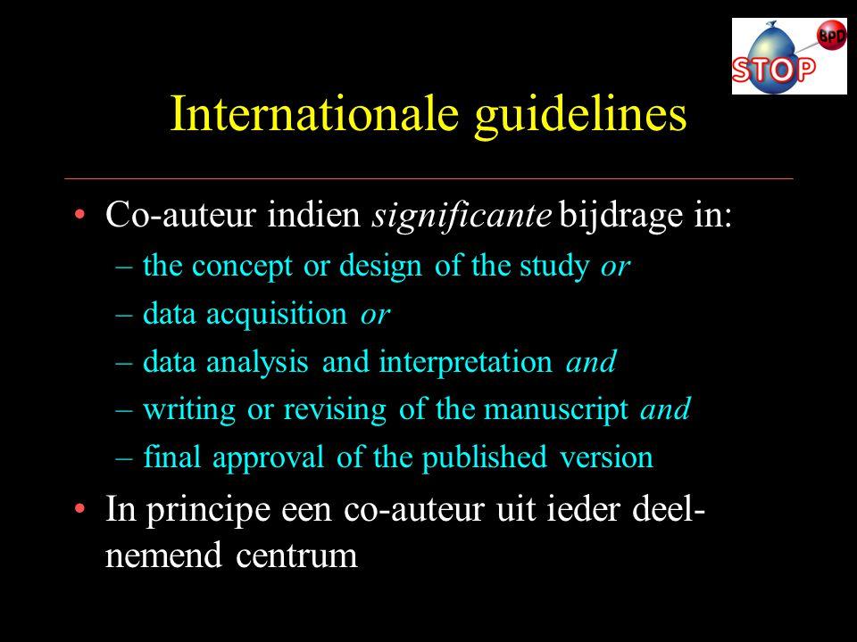 Internationale guidelines
