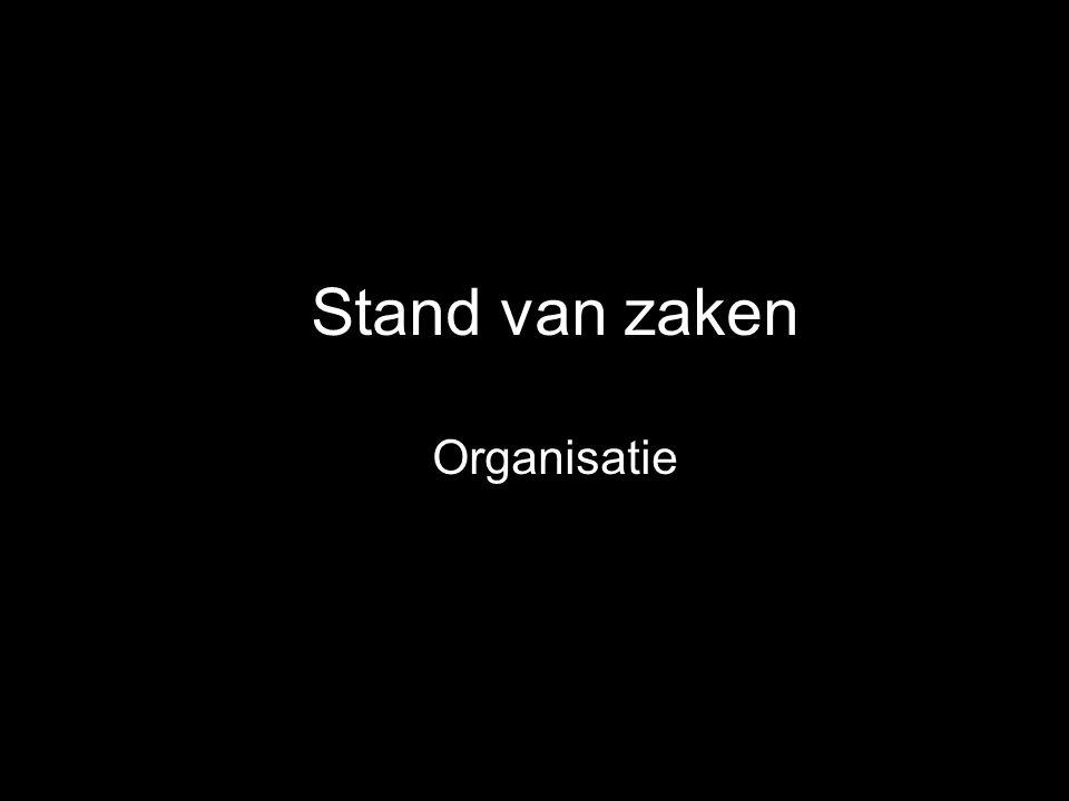 Stand van zaken Organisatie