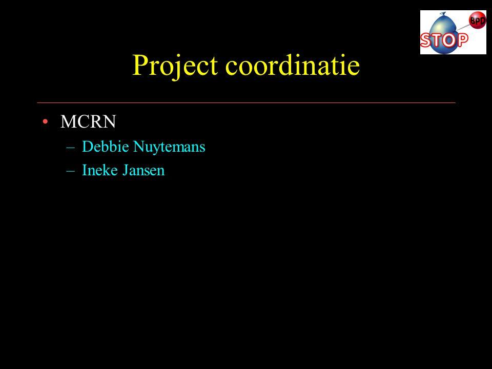 Project coordinatie MCRN Debbie Nuytemans Ineke Jansen