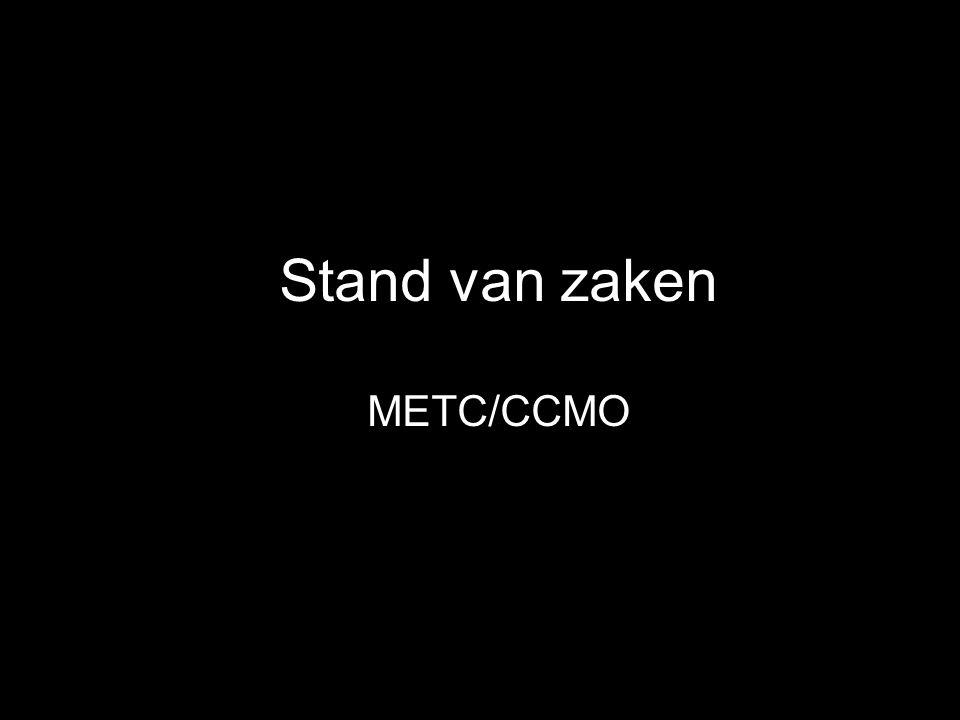 Stand van zaken METC/CCMO