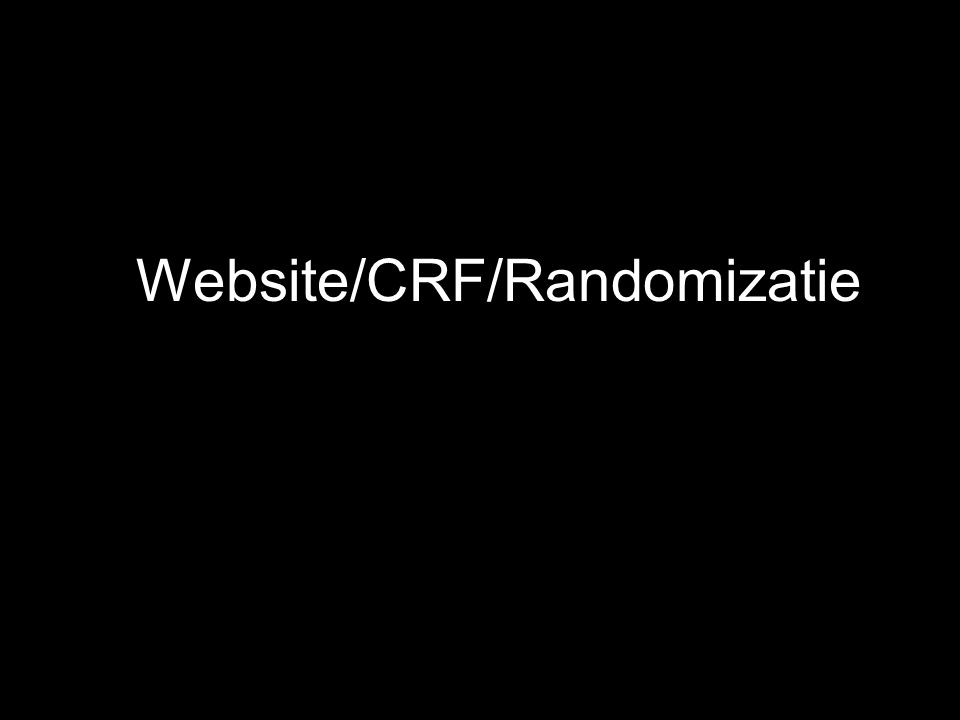 Website/CRF/Randomizatie