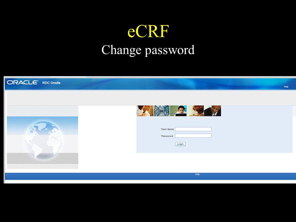 eCRF Change password
