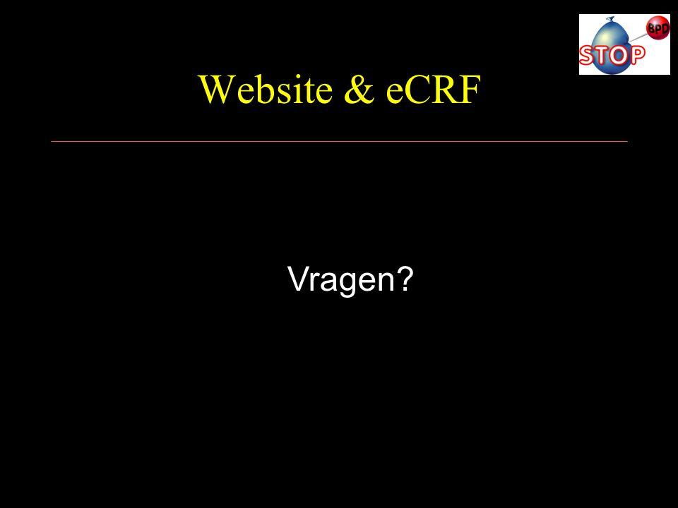 Website & eCRF Vragen