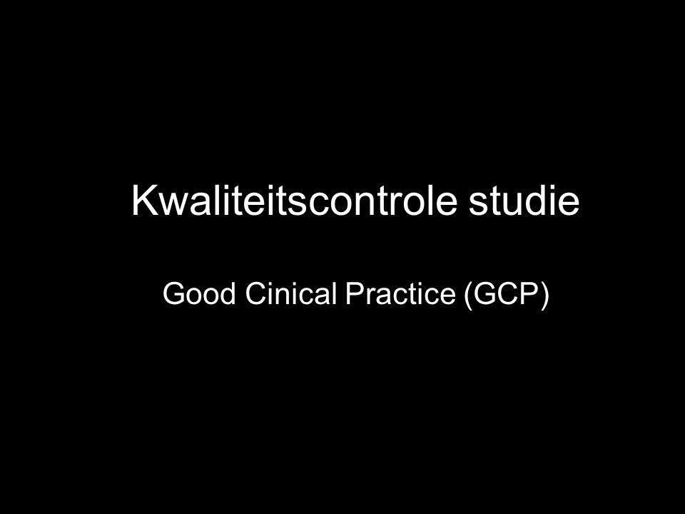 Kwaliteitscontrole studie