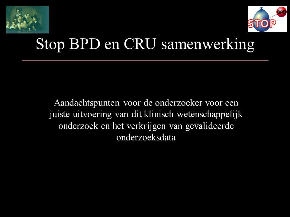 Stop BPD en CRU samenwerking