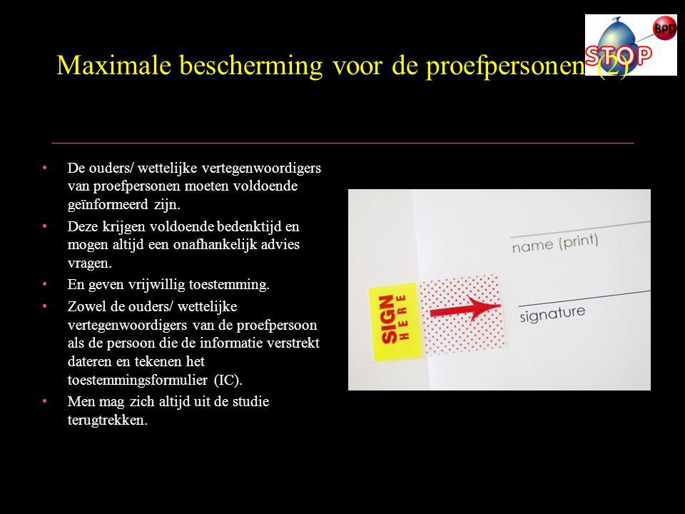 Maximale bescherming voor de proefpersonen (2)