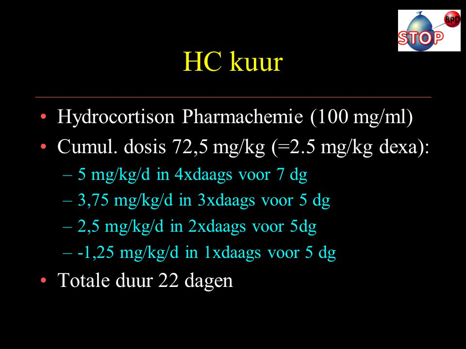 HC kuur Hydrocortison Pharmachemie (100 mg/ml)
