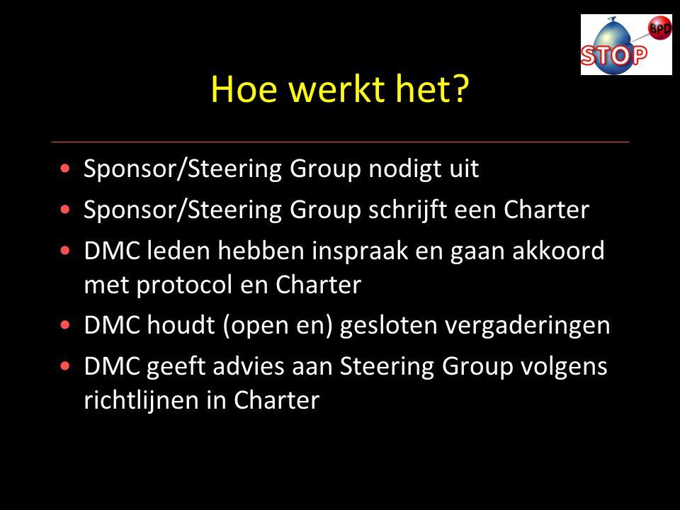 Hoe werkt het Sponsor/Steering Group nodigt uit