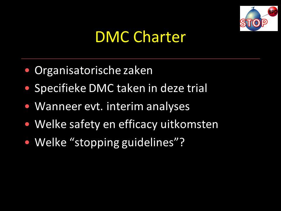 DMC Charter Organisatorische zaken Specifieke DMC taken in deze trial