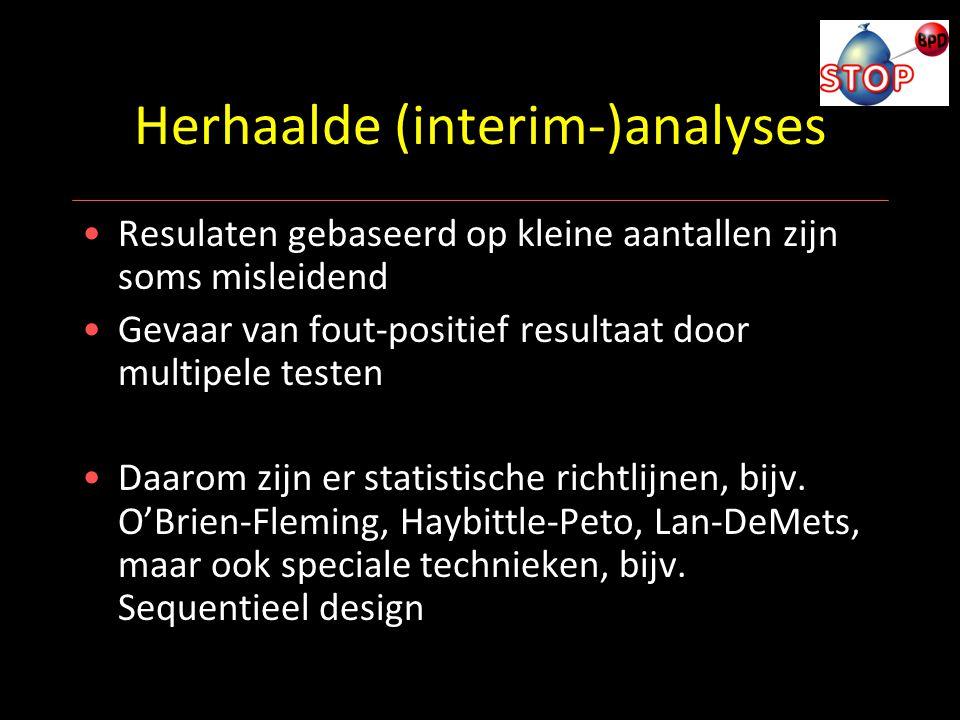 Herhaalde (interim-)analyses