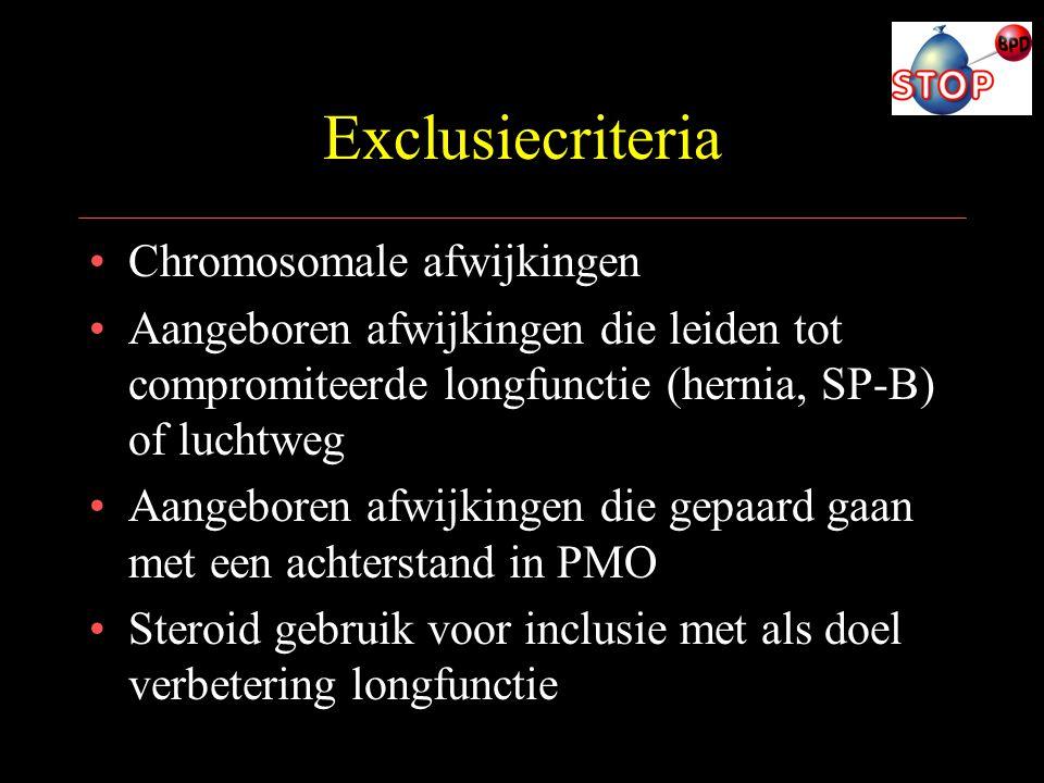 Exclusiecriteria Chromosomale afwijkingen