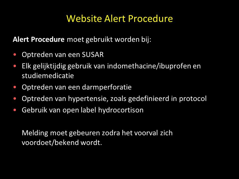 Website Alert Procedure