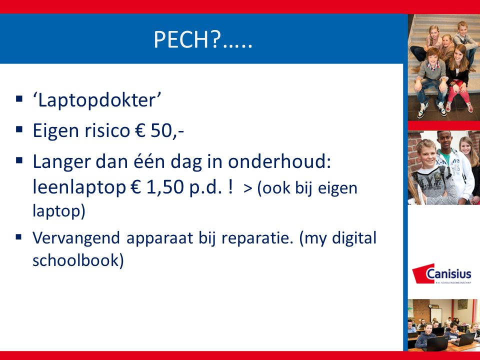 PECH ….. 'Laptopdokter' Eigen risico € 50,-