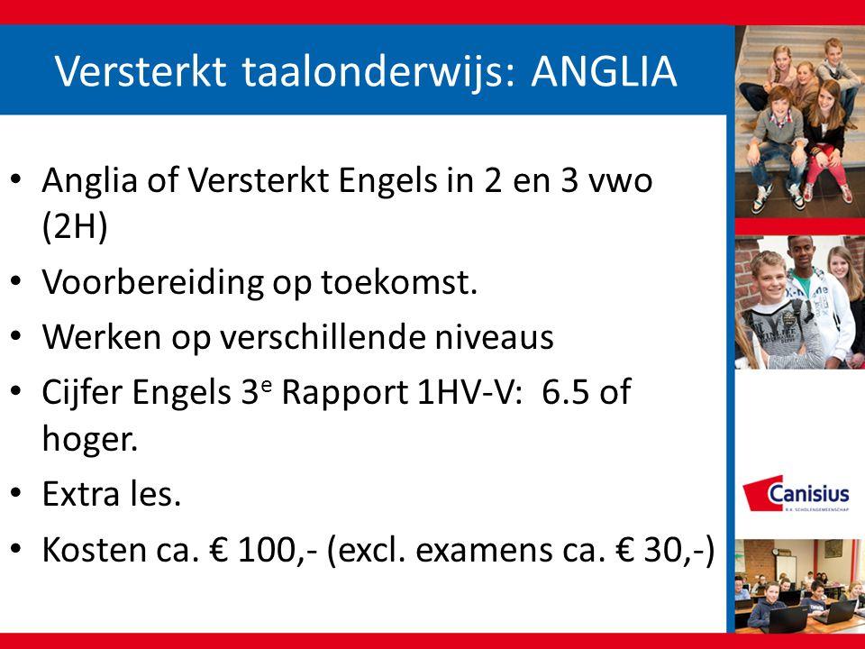 Versterkt taalonderwijs: ANGLIA