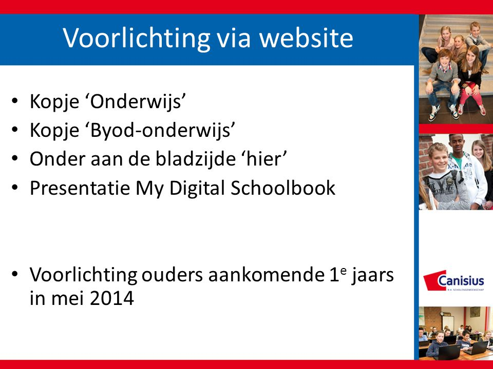 Voorlichting via website