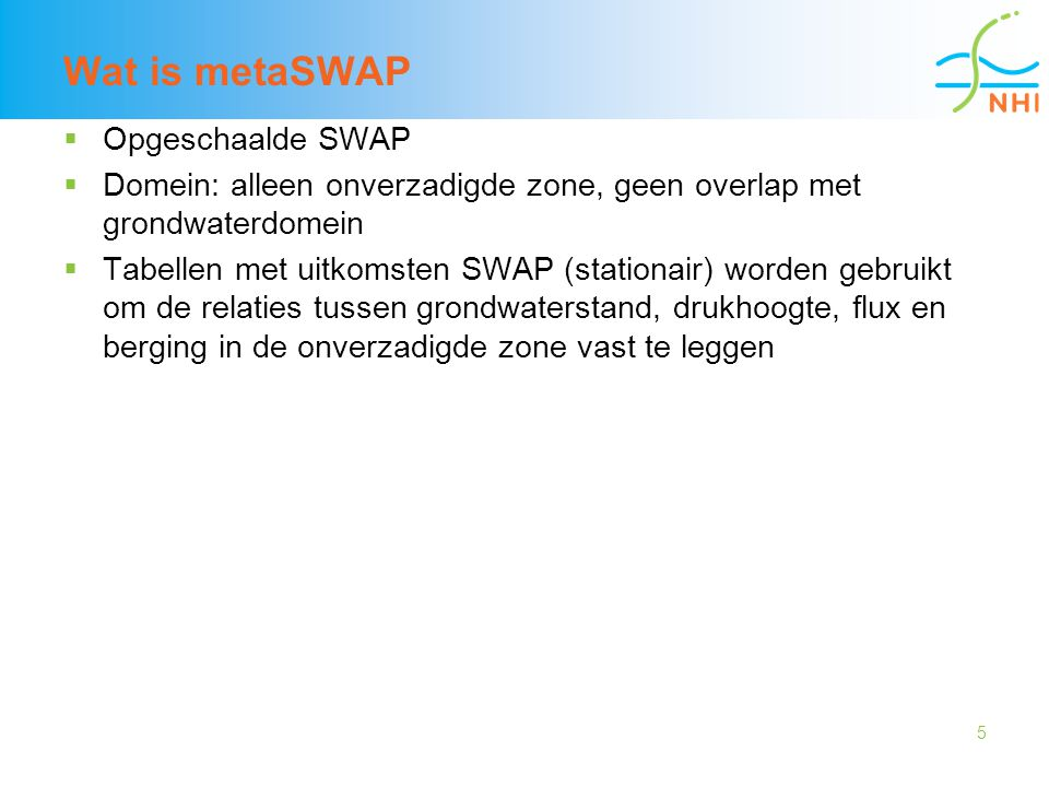Wat is metaSWAP Opgeschaalde SWAP