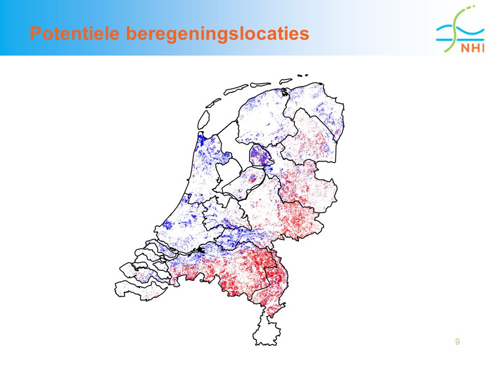 Potentiele beregeningslocaties