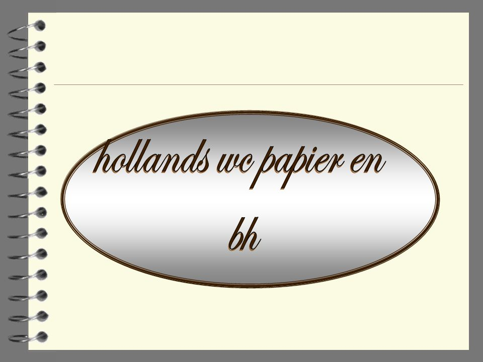 hollands wc papier en bh