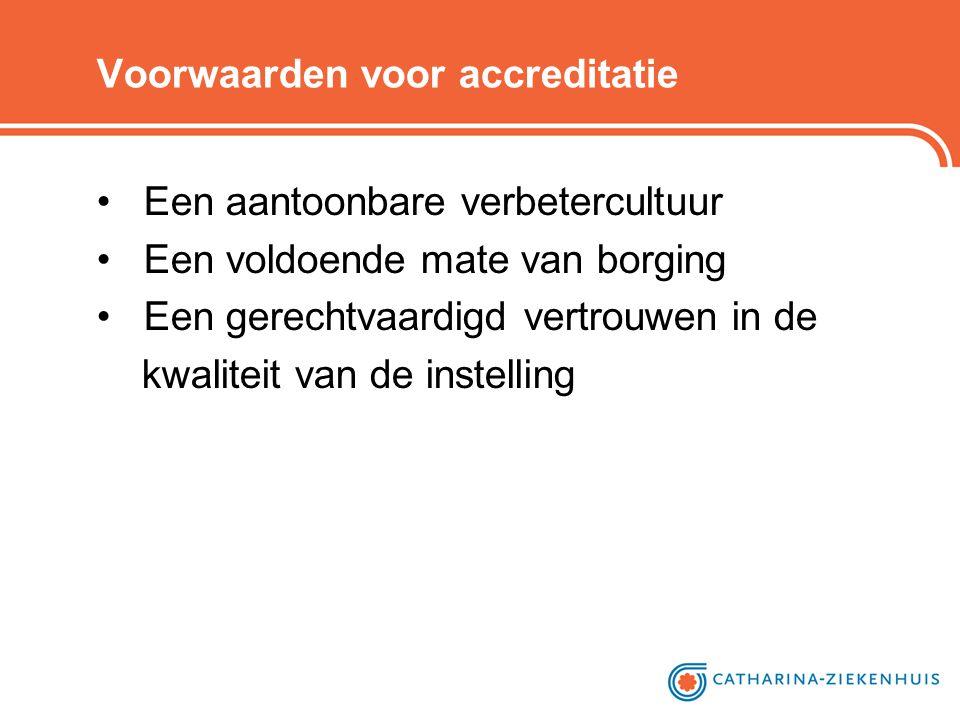 Voorwaarden voor accreditatie